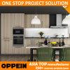 Mobilia di legno della cucina del grano della melammina su ordinazione veloce di consegna di Oppein (OP14-K010)