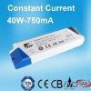 Stromversorgung des Cer-anerkannte konstante Bargeld-LED mit 40W 750mA