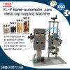 Máquina que capsula de los tarros del casquillo neumático semiautomático del metal (YL-P)
