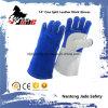 反熱い革靴の革産業安全の溶接作業手袋