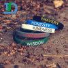 Wristbands poco costosi del silicone di Debossed di modo su ordinazione