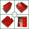 Empaquetage ondulé de cadre de carton d'impression de couleur rouge