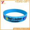 Bracelet/bracelet faits sur commande de silicones de logo pour le cadeau de promotion