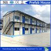Casa móvil prefabricada del edificio de la estructura de acero de 2 suelos para la oficina de trabajo temporal