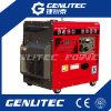 большой топливный бак 25L! Проветрите охлаженный генератор 4.8kw 5.0kw портативный молчком тепловозный