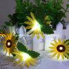 Sonnenblume 1m die 10 LED-kupferne Zeichenkette beleuchtet sternenklare feenhafte Lichter für Innengebrauch-Weihnachtshochzeit