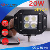 20W 3 LEDワークライトオフロードヘッドライト4X4