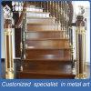 Barandilla interior de lujo de acero inoxidable de las escaleras para el chalet / el hotel