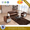 Drei Sitzledernes Sofa für das Haus verwendet (HX-CS062)