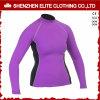 Женщины Rashguards втулки высокого качества интереса пурпуровые длинние (ELTRGI-42)