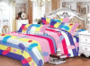 Venta al por mayor Fábrica de algodón material de acolchado de tela Moderno colcha de ropa de cama conjunto de cama hoja de tamaño King Size