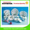 Vaisselle en céramique de la vente 16 de PCS de noix de coco d'étiquettes chaudes d'arbres pour le restaurant