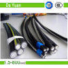 Cable triple del ABC de los Cyclops de 2*2/0AWG+155.4 AAC/XLPE