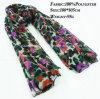 100% шарф безграничности способа полиэфира флористический напечатанный, шарф Pashmina