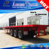 高品質Second Hand Used 40ft Flatbed Container Semi Trailer