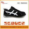 De zwarte Schoenen van de Veiligheid van het Staal met Goede Kwaliteit het Leer RS806 van het Suède