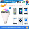 LED Light를 가진 2016년 LED New Products Android Ios Control 9W Smart Lighting Bulb Bluetooth Speaker