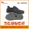 Schoenen RS812 van de Veiligheid van het Staal van Pu de Enige Zwarte Goedkope
