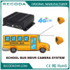 자유로운 이동 전화 APP, 4G GPS 720p Mdvr를 가진 학교 버스 4 사진기 차량 비디오 녹화기