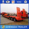 Remorque inférieure de bâti des essieux 60t du transport 3 de matériel de Consturction