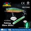 pêche de lueur de 6.0X50mm, outils de pêche dans l'obscurité