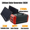 Panneau solaire solaire 35W du générateur 300W de lithium de système de hors fonction-Réseau