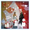 Copos de nieve y etiqueta engomada y etiquetas de la pared del muñeco de nieve para la decoración de la Navidad