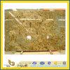 Laje de pedra Polished do granito do amarelo da pele do tigre para a bancada/Vanitytop (YQC)