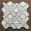 Mosaïque de marbre Water-Jet de cadre de marbre de configuration pour la salle de bains