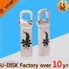 Изготовленный на заказ ручка крюка USB3.0 металла серебра логоса Silkscreen (YT-3258-3.0L3)