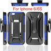 Гибридная сверхмощная изрезанная крышка панцыря/кобуры комбинированная для iPhone 6s