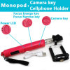 2015 o Design o mais novo Bluetooth Selfie Stick com Focus Enlarge e Narrow Key Handheld Monopod Selfie Stick