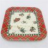 Placas de papel cuadradas coloreadas diseño de la Navidad para el favor de partido