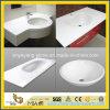 Prefabriceer de het Zuivere Witte Kunstmatige Bassin van het Kwarts/Bovenkant/Countertop/Vanitytop van het Werk