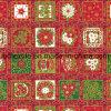 Telas de algodón de oro de la impresión del patrón de la Navidad a Estados Unidos