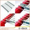 Estante galvanizado resistente industrial del Decking del acoplamiento de alambre