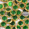 Rhinestone caliente del arreglo del anillo de la garra del oro de Ss6 Ss10 Ss16 Ss20 (grado esmeralda de green/A)