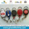 Elementi promozionali di Carabiner della bobina variopinta ovale di plastica su ordinazione del distintivo
