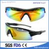 Los vidrios envueltos impresos insignia de encargo unisex al por mayor forman las gafas de sol de los deportes
