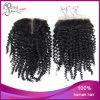 ねじれたCurly 1b#ブラジルのVirgin Hair 4*4 Lace Closure