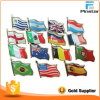 Pin en gros National Flag Badge de Lapel de pays de Cup de monde de football avec Epoxy