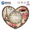 Orologio di parete di legno di disegno speciale di figura del cuore