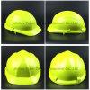 Luz - capacete de segurança modelo de Vaultex do chicote de fios plástico verde do Pin-Fechamento (SH503)
