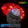 Roating 19X15W СИД Bee Eyes Moving Head Light Zoom Whsh Light