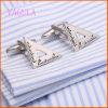 VAGULAのロジウムによってめっきされる三角形の定規の方法銅のカフスボタン