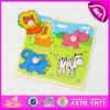 2015 Deisgn animale Kid Wooden Puzzle Set Toy, puzzle Puzzle Toy, Wooden Toy Animal Puzzle Game di 3D Wooden Animal con Knobs W14m073