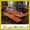 Prefab Orange Artificial Quartz Kitchen Counter Top / Bar Top