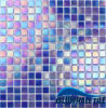 20*20mm esterni Iridensent Blue Color Metallic Melt Glass Pool Tile per Villa Design