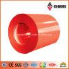 para el color de la decoración del revestimiento de la pared bobina de aluminio cubierta