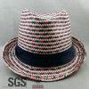 Sombrero de paja llano promocional del poliester